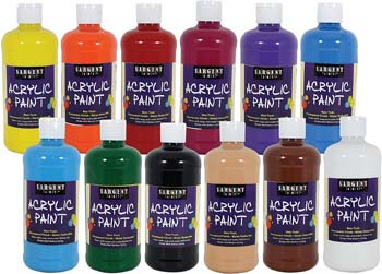 1. Sargent Art 24-2498 Count Artist Quality Acrylic Paint Set, 12, Assorted