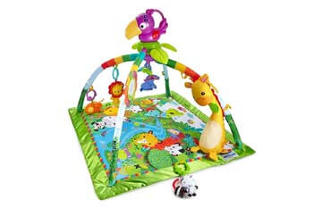 1. Fisher-Price Rainforest Music & Lights Deluxe Gym