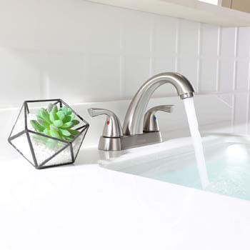 4. PARLOS 2-Handle Bathroom Sink Faucet