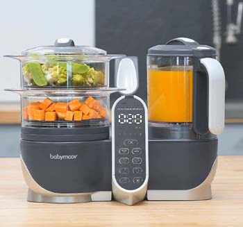 4. Babymoov Duo Meal Station Food Maker | 6 in 1 Food Processor with Steam Cooker