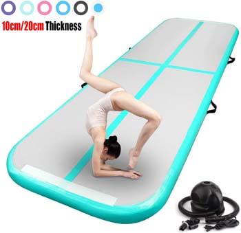 1. FBSPORT Inflatable Gymnastics Air Track Tumbling Mat