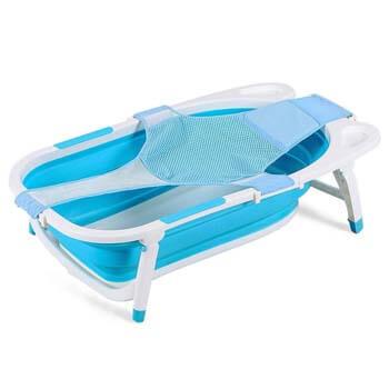 9. BABY JOY Collapsible Baby Bathtub, Folding Portable Shower Basin