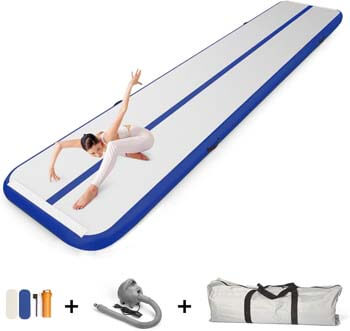7. EZ GLAM Air Track Inflatable Gymnastics Tumbling Air Track Mat