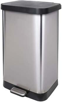 3. GLAD GLD-74507 Extra Capacity Stainless Steel Step Trash Can