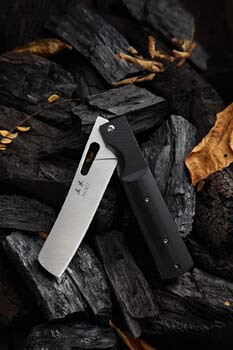 4. MIKI 440A Stainless Steel Blade Japanese Kitchen Chef Folding Pocket Knife