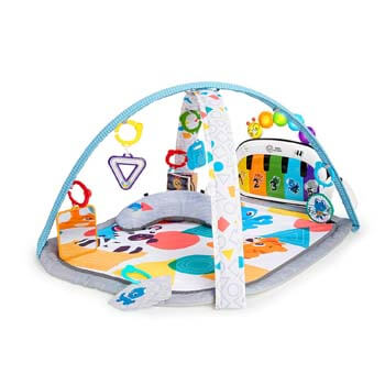 2. Baby Einstein 4-in-1 Kickin' Tunes Music Activity Gym Play Mat