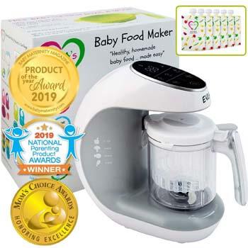 1. EVLA'S Baby Food Maker | Baby Food Processor Blender Grinder Steamer