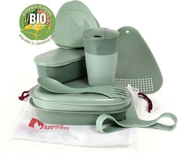 8. Light My Fire 8-Piece MealKit BIO Camping Mess Kit with Cup, Bowl, Plate, Spork and Storage Containers