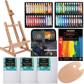 5. MEEDEN 64-Piece Acrylic Painting Set