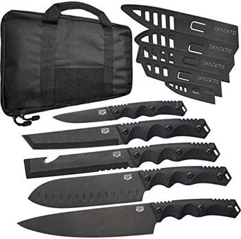 1. DFACKTO - 11 Piece Premium Rugged Knife Set with Sheaths and Case