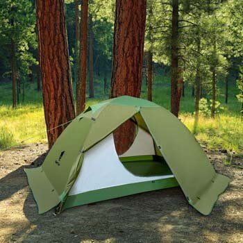 8. GEERTOP Backpacking Tent for 2 Person 4 Season Camping Tent Double Layer Waterproof