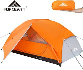 6. Forceatt Tent 2-3 Person Camping Tent, Waterproof and Windproof 3-4 Seasons Ultralight Backpack Tent