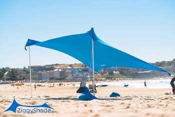10. ZiggyShade Family Beach Sunshade