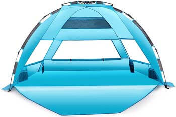 7. Arcshell Premium Extra Large Pop Up Beach Tent UPF 50+