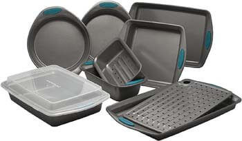 3. Rachael Ray 47025 Nonstick Bakeware Set