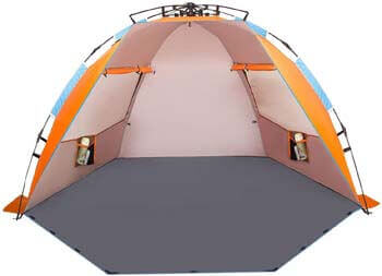 4. Oileus X-Large 4 Person Beach Tent Sun Shelter