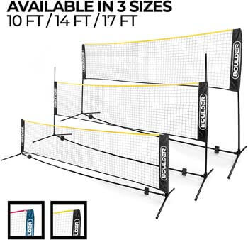 1. Boulder Portable Badminton Net Set