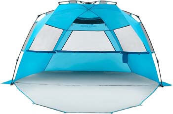 1. Pacific Breeze Easy Setup Beach Tent Deluxe XL