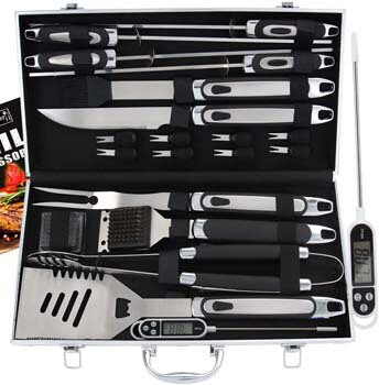 9. ROMANTICIST 21pc BBQ Grill Accessories Set