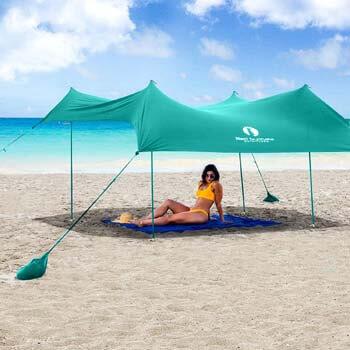 8. Red Suricata Family Beach Sunshade - Sun Shade Canopy