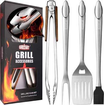 8. GRILLART Heavy Duty BBQ Grill Tools Set