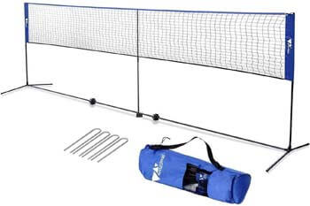 3. amzdeal Badminton Net 17ft / 5.1m Kids Tennis Net Portable Net