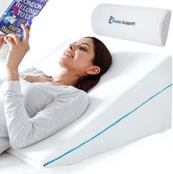 10. Relax Support RS6 Wedge Pillow Whole Memory Foam 3-in-1 Technology Large Adjustable Bed Pillow