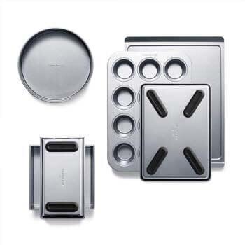 9. Calphalon 2065318 Premier Countertop Safe Bakeware 6 Piece Set, 6-Piece Set