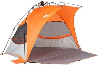 6. Mobihome Beach Tent Sun Shelter Pop Up, Sand & Surf Beach Shade Tents