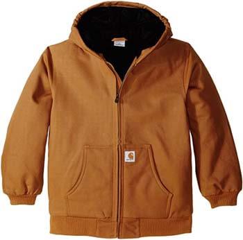 8. Carhartt Boys' Active Jac Quilt Lined Jacket Coat