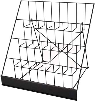 9 FixtureDisplays 4-Tiered Book Signing Rack, CD Display, 18