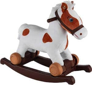 4. Rockin' Rider Carrot 2-in-1 Pony Plush Ride-On, Painted