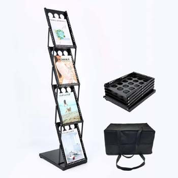 2. Polmart Brochure Magazine Catalog Literature Display Rack, 4 Pockets