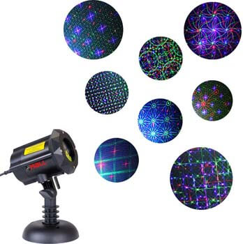 1. Motion 8 Patterns in 1 LEDMALL RGB Outdoor Garden Laser Christmas Lights