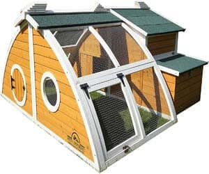 4. Pets Imperial Green Ritz Chicken Coop Hen House Poultry Nest Box Ark Rabbit Hutch Run