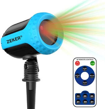 9. FYYZY Laser Projector Lights 12 Patterns Outdoor Waterproof Light