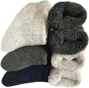 3. Men's Heavy Thick Wool Socks