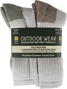 4. HOT FEET Mens Active Work and Outdoors Socks