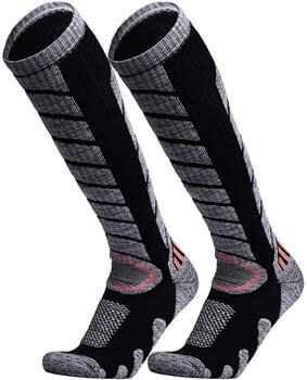 5. WEIERYA Ski Socks 2 Pairs Pack