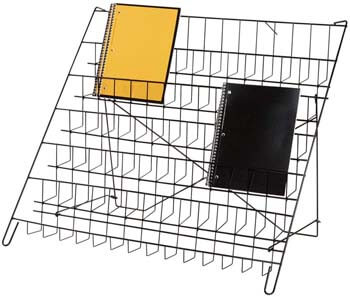 4. SSWBasics 6-Tier Black Wire Countertop Rack - 22