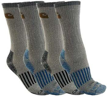 1. Carhartt Men's A118-4 Cold Weather Wool Blend Crew Socks (Pack of 4)