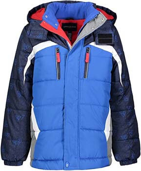 1. LONDON FOG Boys' Big Active Puffer Jacket Winter Coat