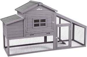 5. Aivituvin 69-in Wooden Chicken Coop, Outdoor Large Hen House