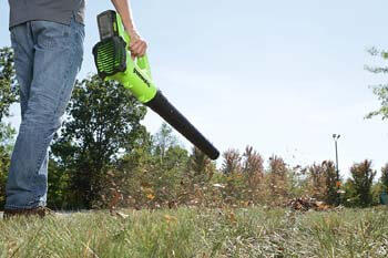 4. Greenworks 24V Cordless Jet Leaf Blower, 2.0Ah Battery, and Charger Included 2400702