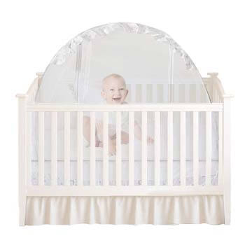 8. Houseables Baby Crib Safety Net, Mosquito Babies Bed Netting Tent