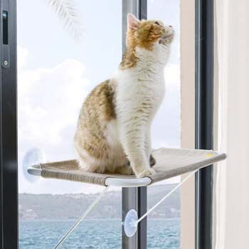 3. LSAIFATER All-around 360° Sunbath and Lower Support Safety Iron Cat Window Perch