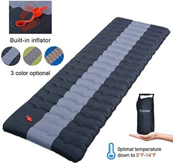 3. YSXHW Self Inflating Camping Pads Thick 4.7 Inch Lightweight Camping Sleeping Pad