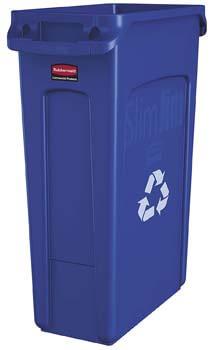 4. Rubbermaid Commercial Slim Jim Plastic Rectangular Recycling Bin