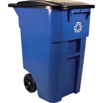 3. Rubbermaid Commercial Brute Rollout Heavy-Duty Wheeled Recycling Bin