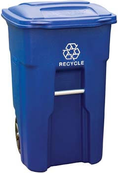 5. Toter 025532-R1BLU Recycling Can